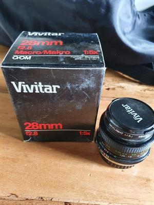 Obiettivo marca Vivitar mm. 28