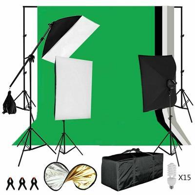 Foto Studio Kit Sfondo Fotografia Set Illuminazione