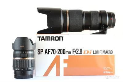 Tamron SP 70-200mm f/2.8 e Tamron AF 18-200 Sony A