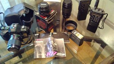 Macchina fotografica acessori, orologio
