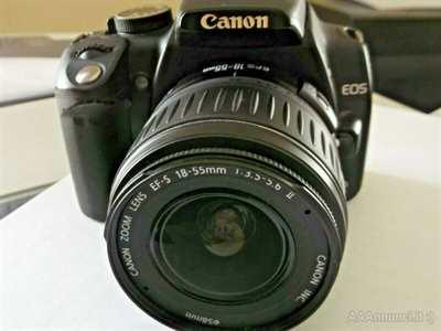 Canon Eos 350 d con obiettivo 55mm