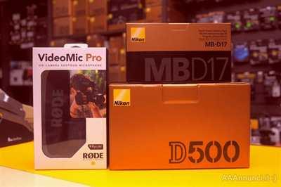 Nikon D500 + MB-D17 Grip + Rode VMPR